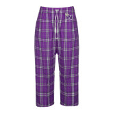 Ladies Purple/White Flannel Pajama Pant-Waldorf W