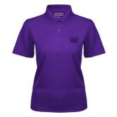 Ladies Purple Dry Mesh Polo-Waldorf W