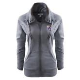 Ladies Sport Wick Stretch Full Zip Charcoal Jacket-Waldorf W