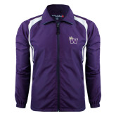 Colorblock Purple/White Wind Jacket-Waldorf W