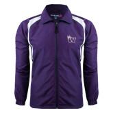 Colorblock Purple/White Wind Jacket-Waldorf W