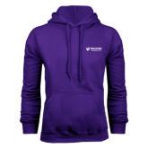 Purple Fleece Hoodie-Waldorf University Academic Mark Flat