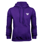 Purple Fleece Hood-Waldorf University Academic Mark Flat