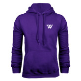Purple Fleece Hood-Waldorf W Academic Mark