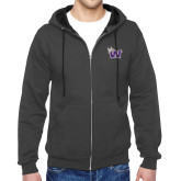 Charcoal Fleece Full Zip Hood-Waldorf W