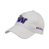 White Heavyweight Twill Pro Style Hat-Waldorf W