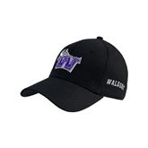 Black Heavyweight Twill Pro Style Hat-Waldorf W