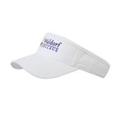 White Brushed Bull Denim Visor-Waldorf University Academic Mark