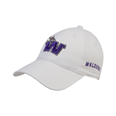 White Twill Unstructured Low Profile Hat-Waldorf W