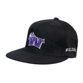 Black OttoFlex Flat Bill Pro Style Hat-Waldorf W