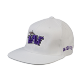White OttoFlex Flat Bill Pro Style Hat-Waldorf W