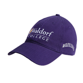 Purple Twill Unstructured Low Profile Hat-Waldorf University Academic Mark Flat