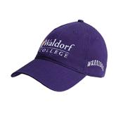 Purple Twill Unstructured Low Profile Hat-Waldorf University Academic Mark Flat