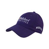 Purple Heavyweight Twill Pro Style Hat-Waldorf University Academic Mark Flat