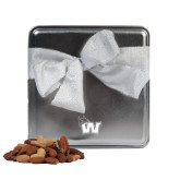 Deluxe Nut Medley Silver Medium Tin-Waldorf W Engraved