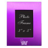 Purple Brushed Aluminum 3 x 5 Photo Frame-Waldorf W Engraved