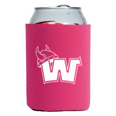 Collapsible Hot Pink Can Holder-Waldorf W