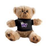 Plush Big Paw 8 1/2 inch Brown Bear w/Black Shirt-Waldorf W