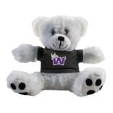 Plush Big Paw 8 1/2 inch White Bear w/Black Shirt-Waldorf W