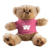Plush Big Paw 8 1/2 inch Brown Bear w/Pink Shirt-Waldorf W
