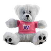 Plush Big Paw 8 1/2 inch White Bear w/Pink Shirt-Waldorf W