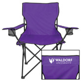 Deluxe Purple Captains Chair-Waldorf University Academic Mark Flat