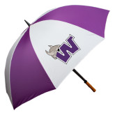 64 Inch Purple/White Umbrella-Waldorf W