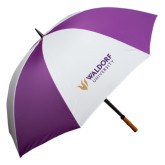 64 Inch Purple/White Umbrella-Waldorf University Academic Mark Flat