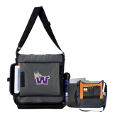 Impact Vertical Black Computer Messenger Bag-Waldorf W
