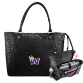 Sophia Checkpoint Friendly Black Compu Tote-Waldorf W