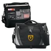 Slope Black/Grey Compu Messenger Bag-Lion Head Shield