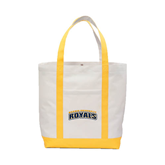 Contender White/Gold Canvas Tote-Arched Warner University Royals