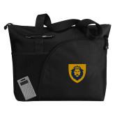 Excel Black Sport Utility Tote-Lion Head Shield