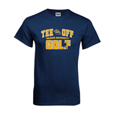 Navy T Shirt-Track and Field Design