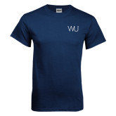 Navy T Shirt-WU Cattle Brand