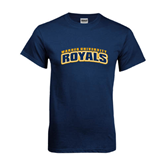 Navy T Shirt-Arched Warner University Royals