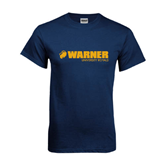 Navy T Shirt-Warner University Royals w/ Lion Head