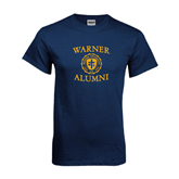 Navy T Shirt-Warner Alumni