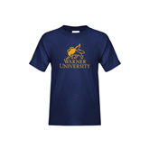Youth Navy T Shirt-Official Logo