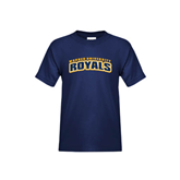 Youth Navy T Shirt-Arched Warner University Royals