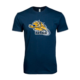 Next Level SoftStyle Navy T Shirt-Warner Royals w/ Lion