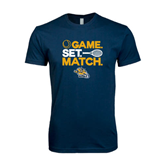 Next Level SoftStyle Navy T Shirt-Game. Set. Match. Tennis Design