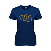 Ladies Navy T Shirt-WU