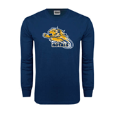 Navy Long Sleeve T Shirt-Warner Royals w/ Lion