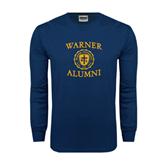 Navy Long Sleeve T Shirt-Warner Alumni