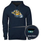 Contemporary Sofspun Navy Heather Hoodie-Warner Royals w/ Lion