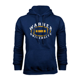 Navy Fleece Hoodie-Warner University Football Design