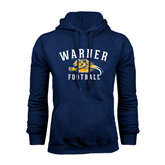 Navy Fleece Hoodie-Warner Football w/ Lion Design