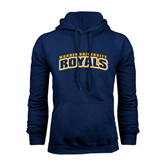 Navy Fleece Hoodie-Arched Warner University Royals