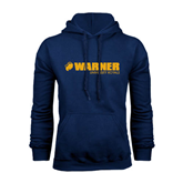 Navy Fleece Hoodie-Warner University Royals w/ Lion Head